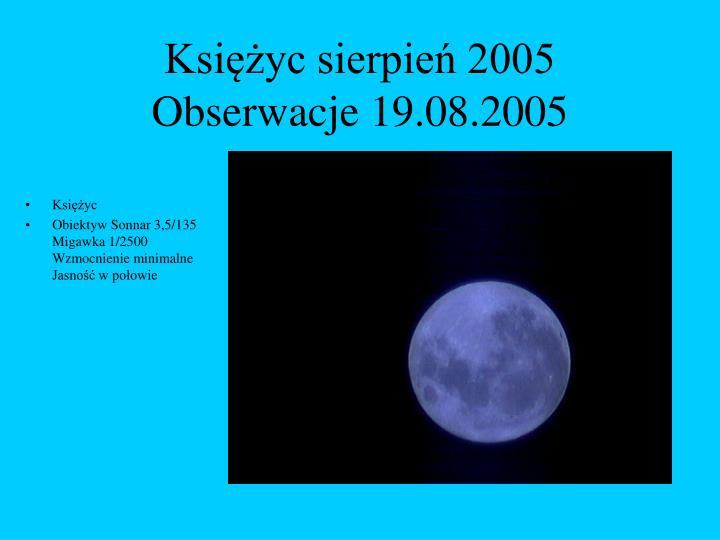 Księżyc sierpień 2005