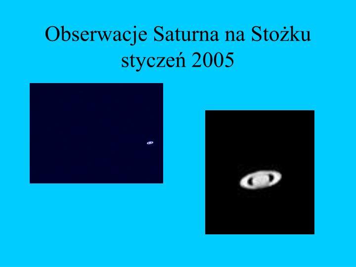 Obserwacje Saturna na Stożku