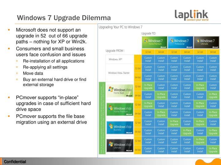 Windows 7 Upgrade Dilemma