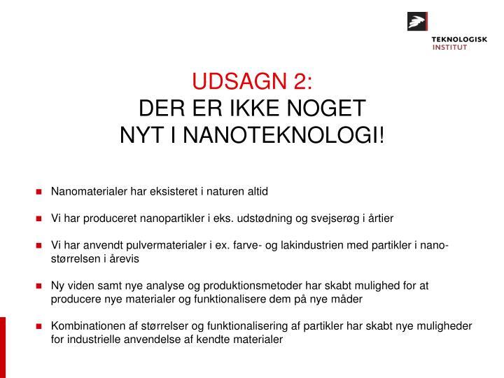 UDSAGN 2:
