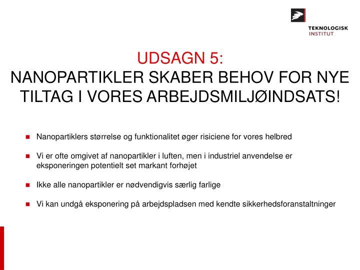 UDSAGN 5: