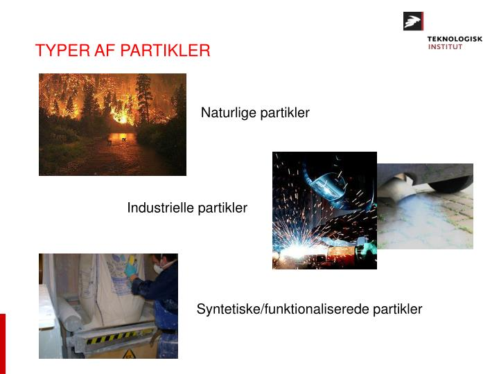 TYPER AF PARTIKLER