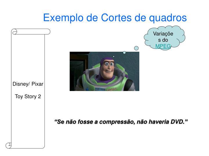 Exemplo de Cortes de quadros