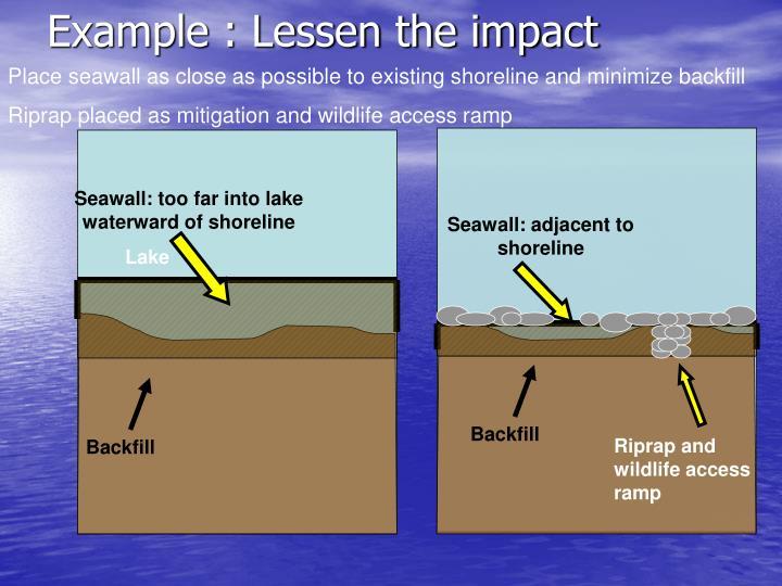 Example : Lessen the impact