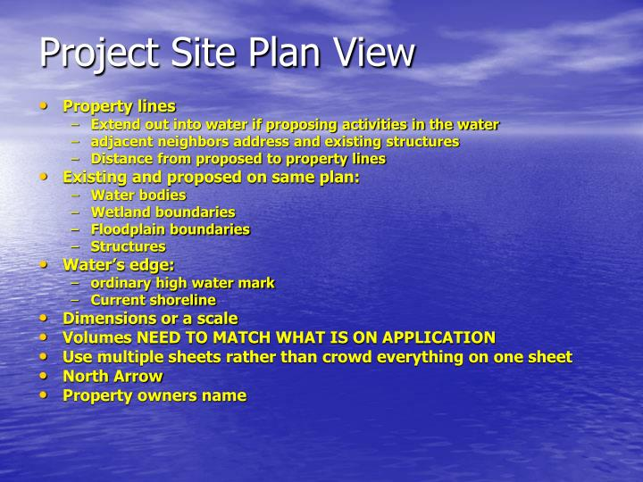 Project Site Plan View