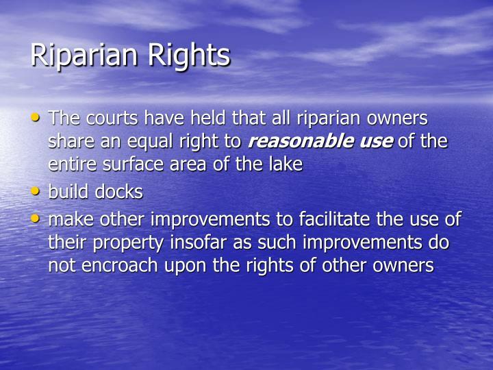 Riparian Rights