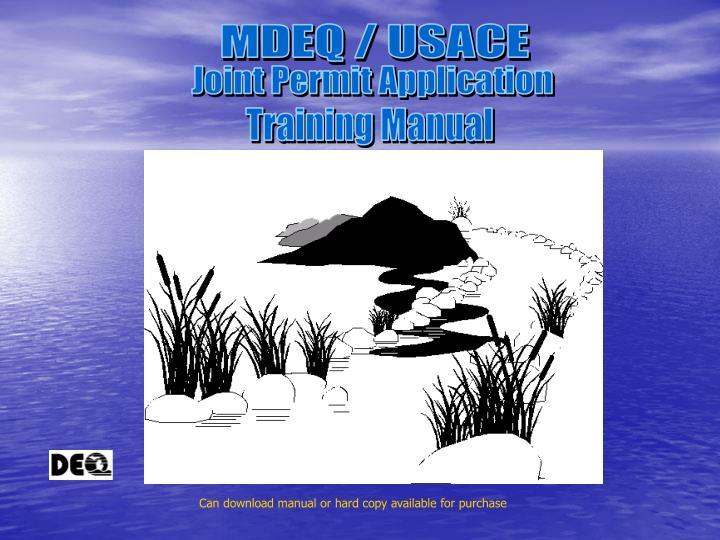 MDEQ / USACE
