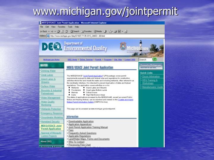 www.michigan.gov/jointpermit
