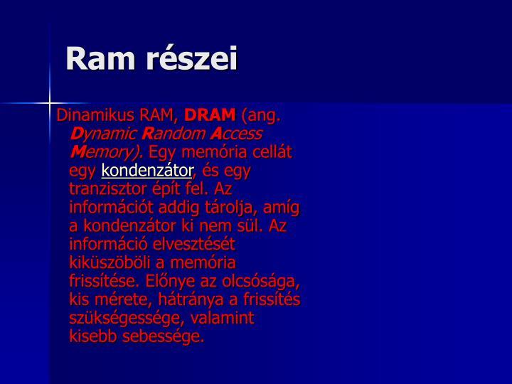 Ram részei