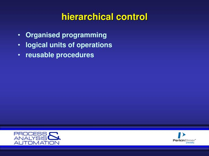 hierarchical control