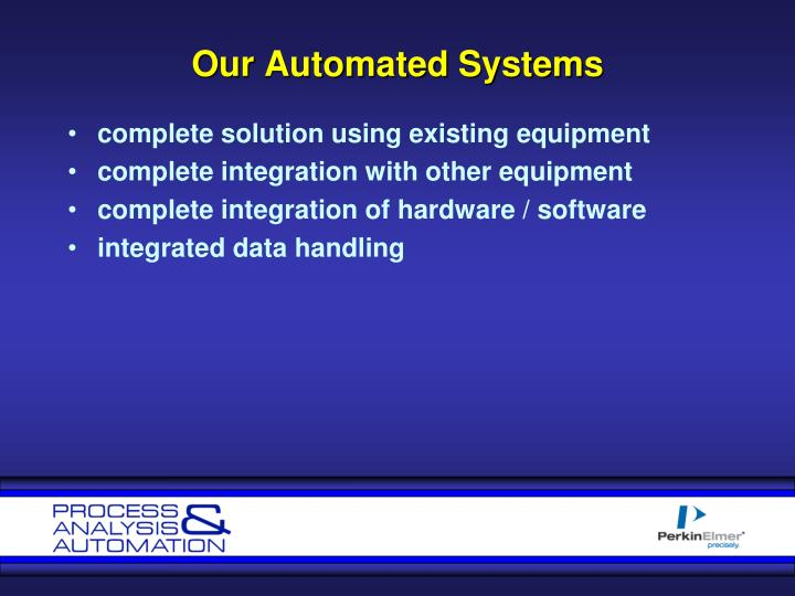 Our Automated Systems