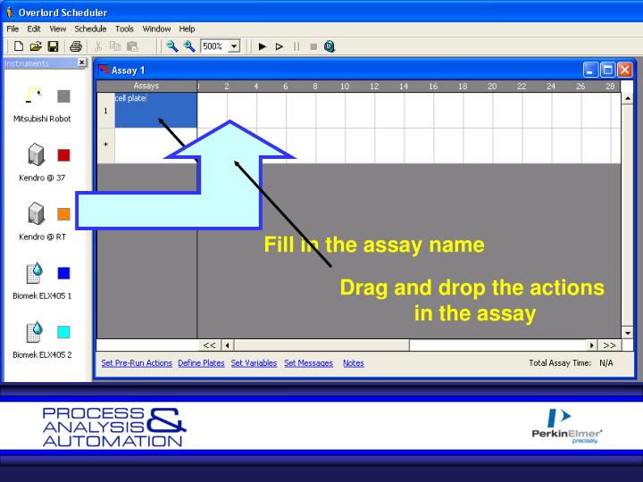 Fill in the assay name