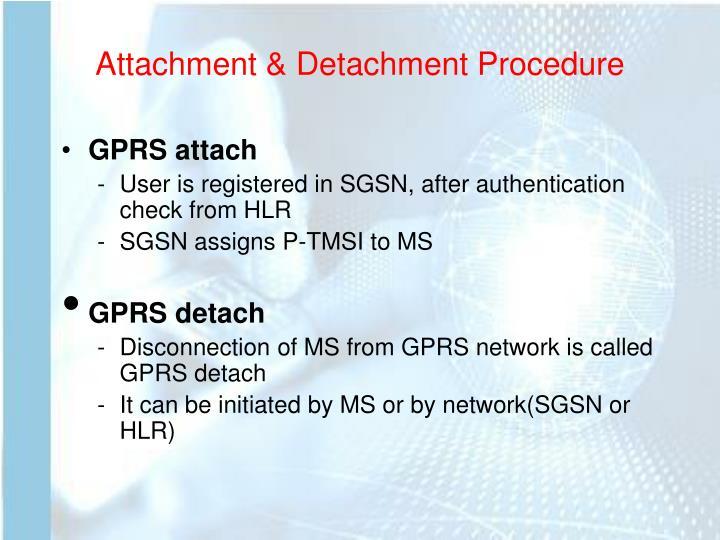 Attachment & Detachment Procedure