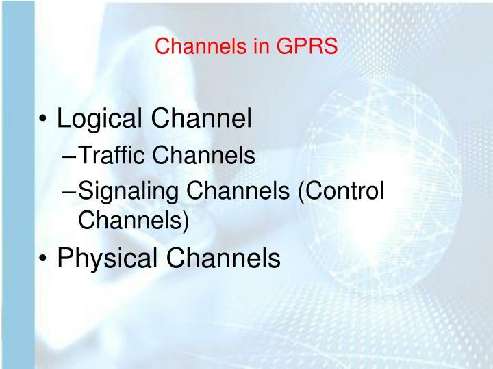Channels in GPRS