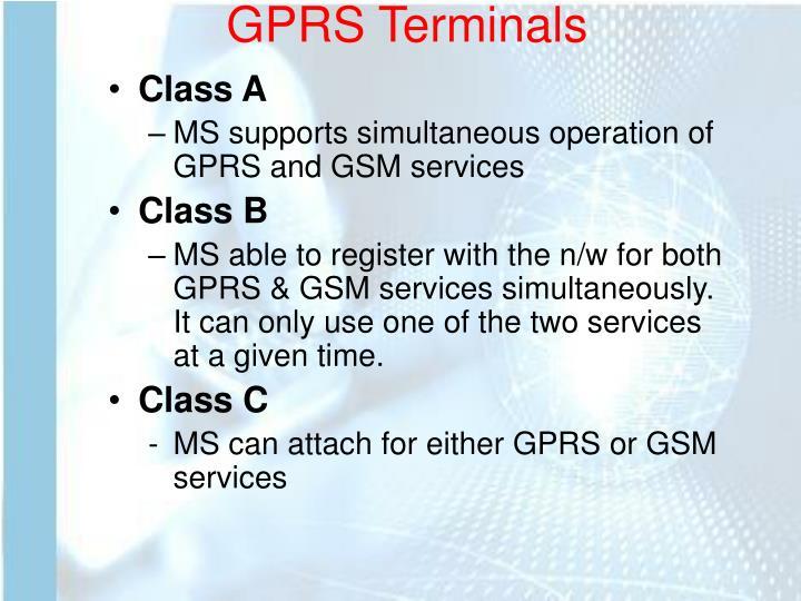 GPRS Terminals