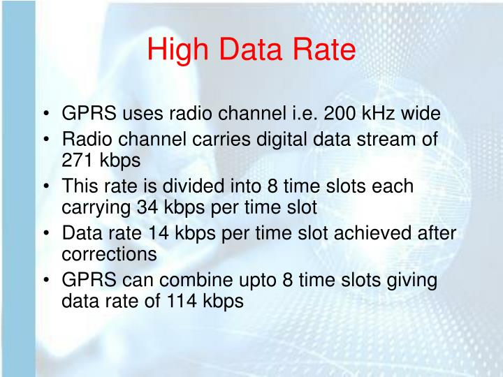 High Data Rate