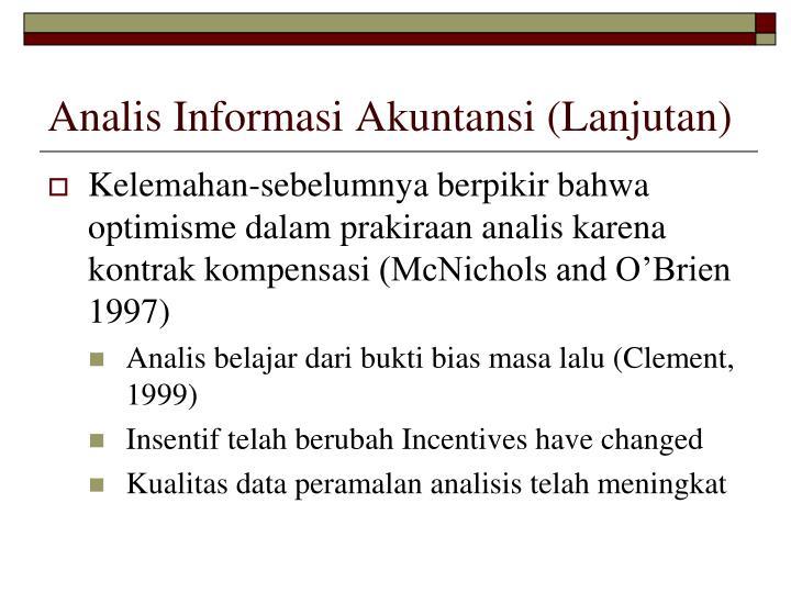 Analis Informasi Akuntansi (Lanjutan)