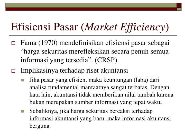 Efisiensi Pasar (