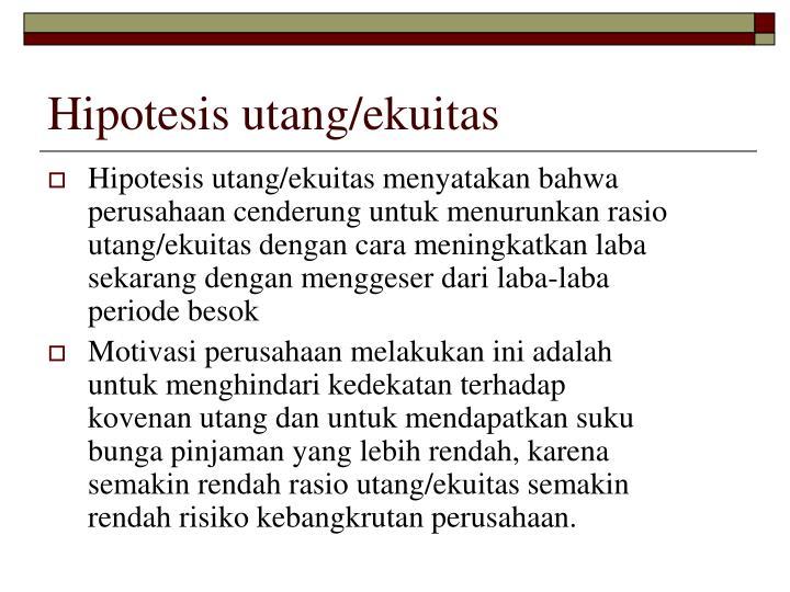 Hipotesis utang/ekuitas