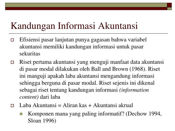 Kandungan Informasi Akuntansi