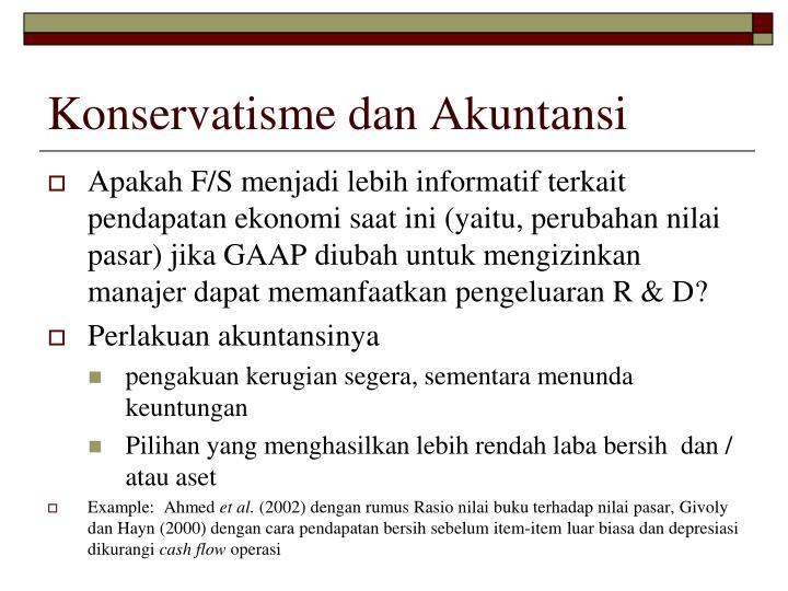 Konservatisme dan Akuntansi