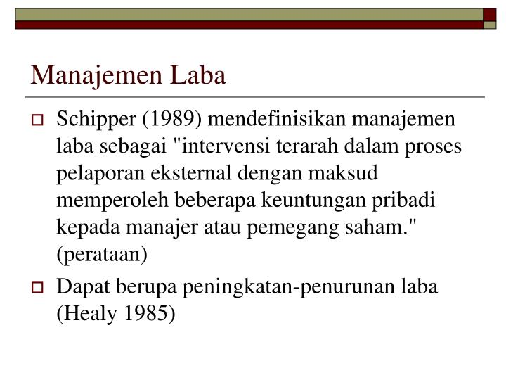 Manajemen Laba