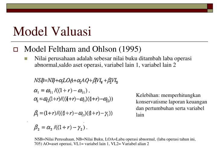 Model Valuasi