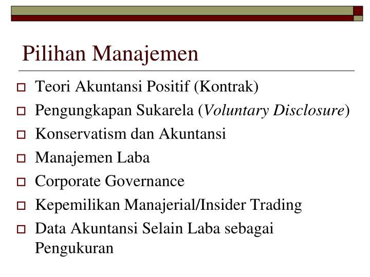 Pilihan Manajemen