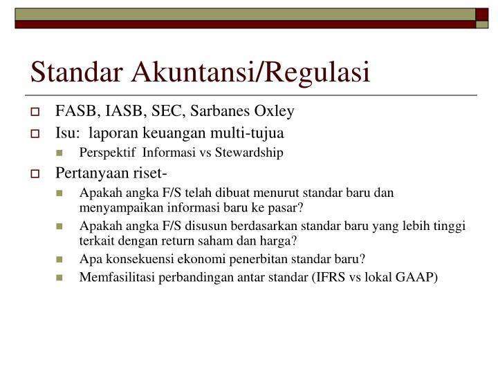 Standar Akuntansi/Regulasi