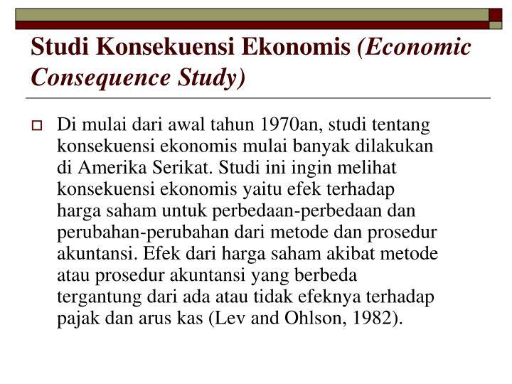 Studi Konsekuensi Ekonomis