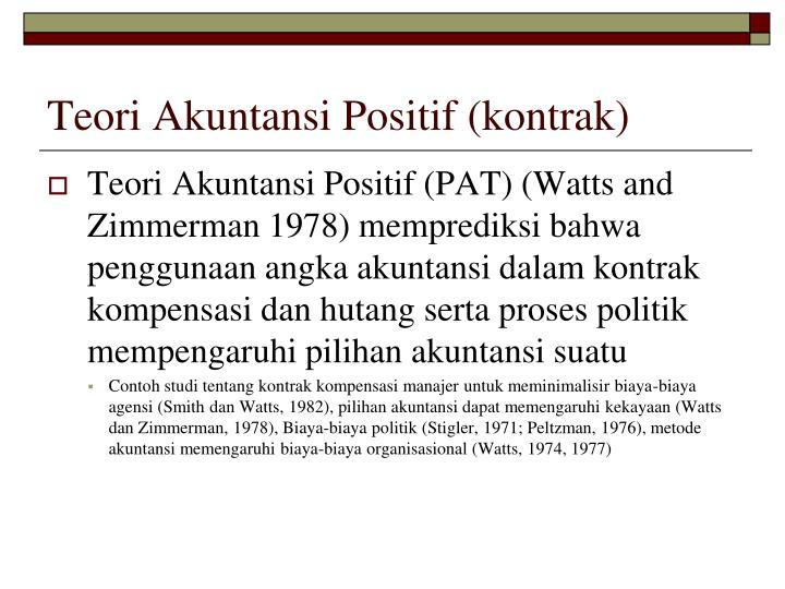 Teori Akuntansi Positif (kontrak)