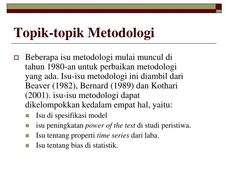 Topik-topik Metodologi