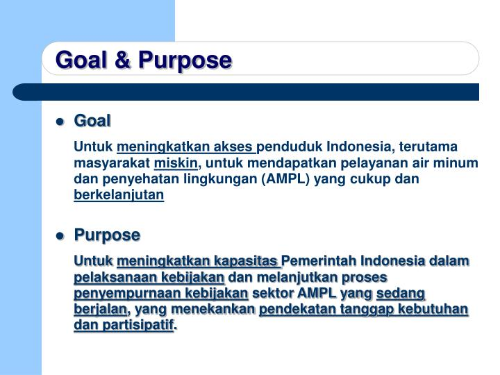 Goal & Purpose