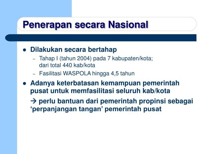Penerapan secara Nasional