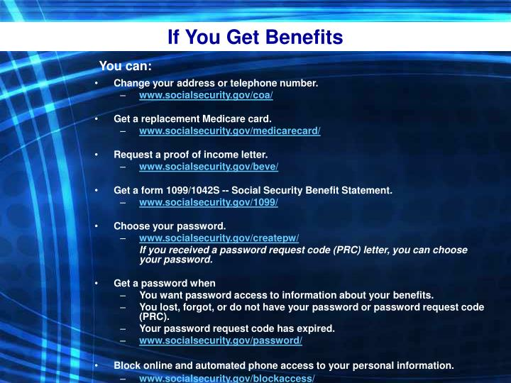 If You Get Benefits