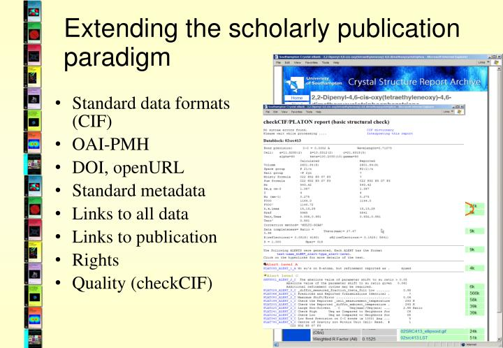 Extending the scholarly publication paradigm