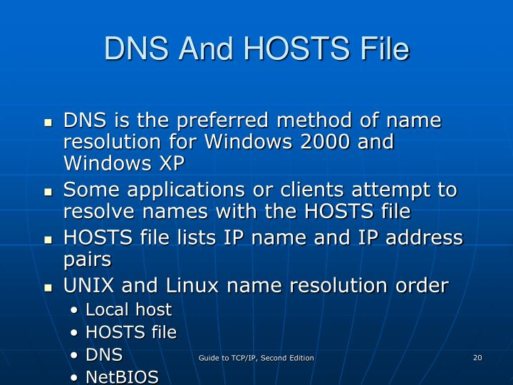 DNS And HOSTS File