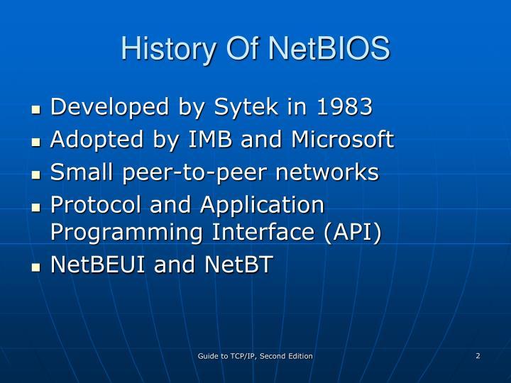 History Of NetBIOS