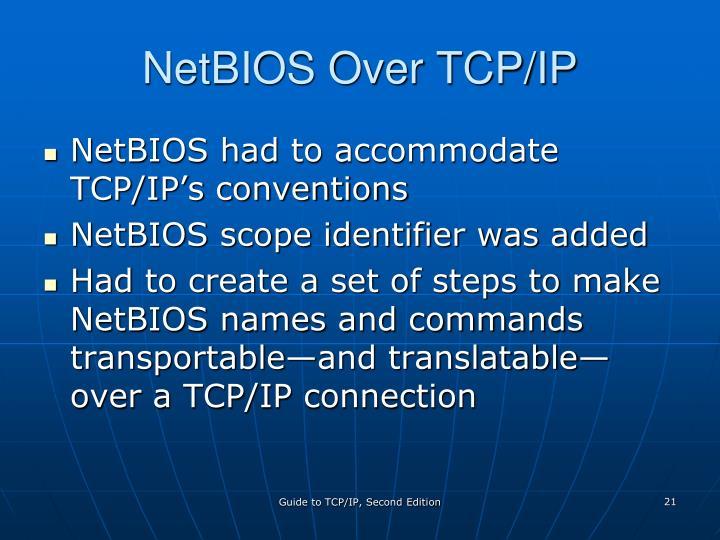 NetBIOS Over TCP/IP