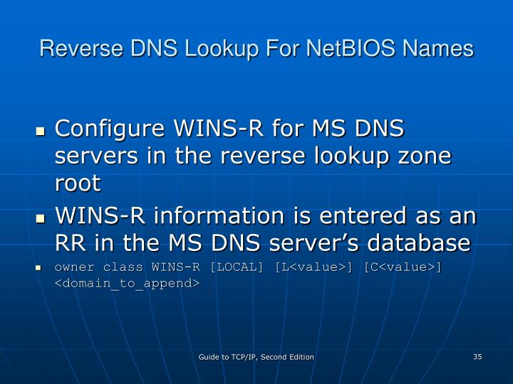 Reverse DNS Lookup For NetBIOS Names