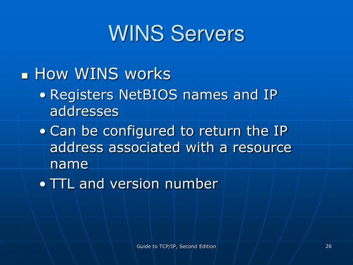 WINS Servers