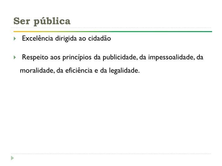 Ser pública