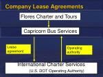 company lease agreements