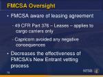 fmcsa oversight1