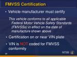fmvss certification