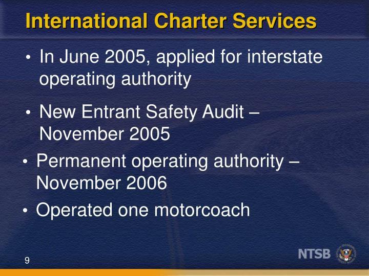 International Charter Services