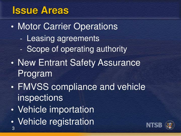 Issue Areas