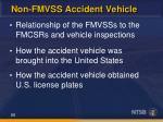 non fmvss accident vehicle