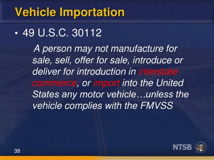 Vehicle Importation
