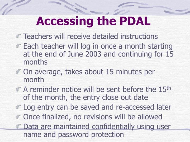 Accessing the PDAL